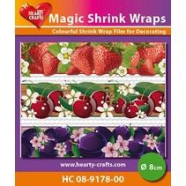 Magic shrink films, fruits (⌀ 8 cm)