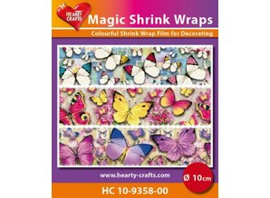 BASTELZUBEHÖR / CRAFT ACCESSORIES Magic shrink films, Butterfly (⌀ 10 cm)