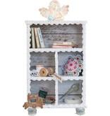 Objekten zum Dekorieren / objects for decorating Sammlerkästchen, 149 x 54 x 210mm, 5 Fensterchen