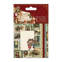 BASTELSETS / CRAFT KITS: Små papirposer (5pc), victorianske jul