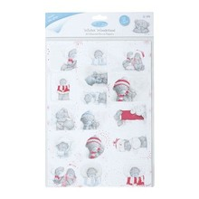 Me to You A4 Glittered Die Cut Toppers (2PK) - Winter Wonderland (Mulled Wine)