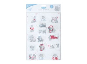 Me to You A4 glitrede Die Cut Toppers (2PK) - Winter Wonderland (gløgg)