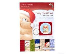 Forever Friends A4 Designersblock, acogedora navidad