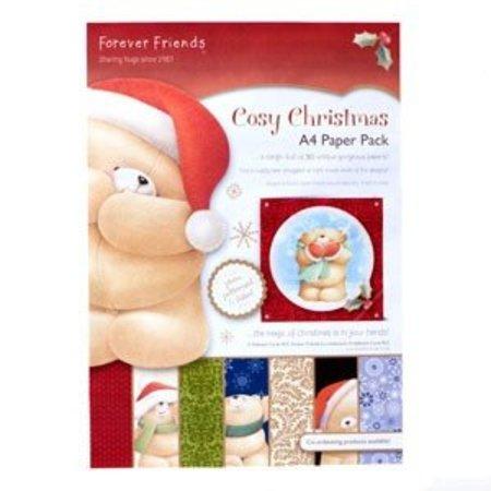 Forever Friends A4 Designersblock, hyggelig jul