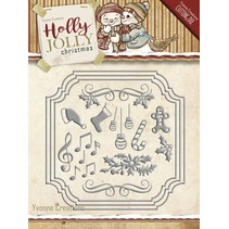 Punching and embossing template: Set of Christmas designs