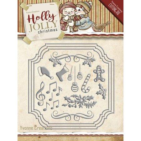 Amy Design Stansning og prægning skabelon: Sæt med julen designs
