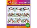 BASTELZUBEHÖR / CRAFT ACCESSORIES Magic shrink films, snowmen (⌀ 6 cm)