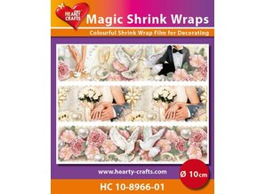 BASTELZUBEHÖR / CRAFT ACCESSORIES Magic shrink films, wedding (⌀ 10 cm)