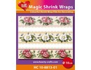 BASTELZUBEHÖR / CRAFT ACCESSORIES Magic shrink films, Rosen (⌀ 10 cm)
