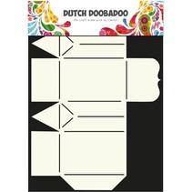 A4 Template: soort Card, Geschenkschachtel