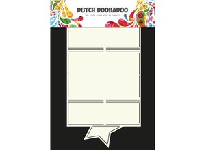 Dutch DooBaDoo A4 Skabelon: korttype, for kort A6
