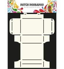Dutch DooBaDoo A4 Skabelon: korttype, Geschenkschachtel