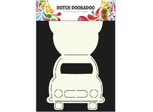 Dutch DooBaDoo A4 Template: Card type, for cards in the form of a car