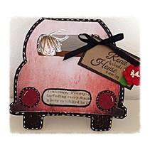 A4 Schablone: Card Art, für Karten in Form eines Autos