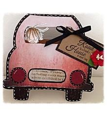 Dutch DooBaDoo A4 Skabelon: korttype, for kort i form af en bil