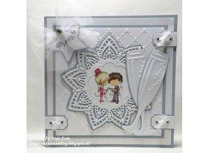 Marianne Design Corte y estampado en relieve plantillas, estrella pañito