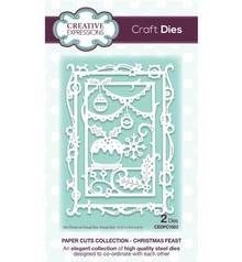 Creative Expressions Punching and embossing templates: decorative frame with Christmas themes