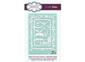 Creative Expressions Punzonado y estampado en relieve plantillas: marco decorativo con motivos navideños