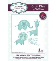 Creative Expressions Punching and embossing templates: The New Arrival Collection