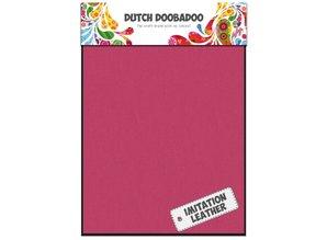 BASTELZUBEHÖR / CRAFT ACCESSORIES 2 x A5 aspecto de cuero, color de rosa
