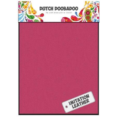 BASTELZUBEHÖR / CRAFT ACCESSORIES 2 x A5 læder look, Pink