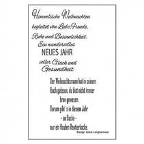 Transparent stamp: German lyrics for Christmas