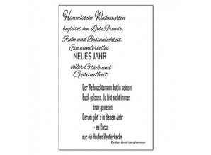 Stempel / Stamp: Transparent Transparent stamp: German lyrics for Christmas