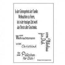 Transparent Stempel: deutsche Texte zu Weihnachten