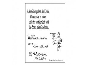 Stempel / Stamp: Transparent Transparent stempel: Tyske tekster til jul