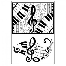 Stempel / Stamp: Transparent Transparent stamp: Music
