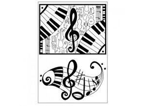 Stempel / Stamp: Transparent Transparent stamp: Music