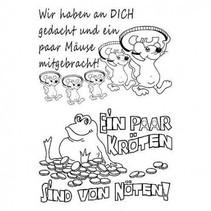 Transparent Stempel: deutsche Texte