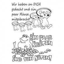 Stempel / Stamp: Transparent timbro trasparente: testi in lingua tedesca