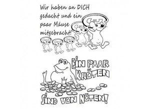 Stempel / Stamp: Transparent Transparent stempel: tyske tekst