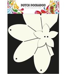 Dutch DooBaDoo A4 Template: Card type, gift box Strawberry