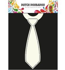 Dutch DooBaDoo A4 Schablone: Card Art, für Karten in Form einer Krawatte