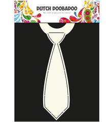 Dutch DooBaDoo A4 Template: Card type, for cards in the form of a tie