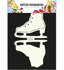 Dutch DooBaDoo A4 Template: Card type, for cards in the form of ice