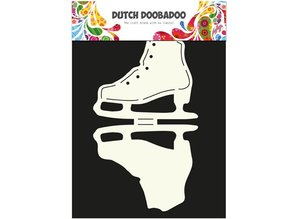 Dutch DooBaDoo A4 Schablone: Card Art, für Karten in Form eines Schlittschuh