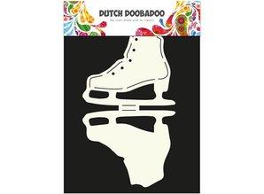 Dutch DooBaDoo A4 Skabelon: korttype, for kort i form af is