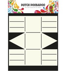 Dutch DooBaDoo A4 Template: Card type, Geschenkschachtel