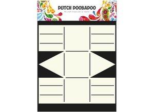Dutch DooBaDoo A4 Template: Card type, Geschenkschachtel
