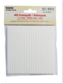BASTELZUBEHÖR / CRAFT ACCESSORIES Foampads, 5 x 5 mm white