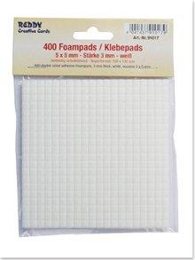 BASTELZUBEHÖR / CRAFT ACCESSORIES Foampads, 5 x 5 mm hvid