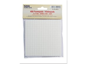 BASTELZUBEHÖR / CRAFT ACCESSORIES Foampads, 5 x 5 mm white