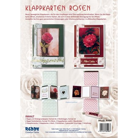 BASTELSETS / CRAFT KITS: Klappkartenset Rosen