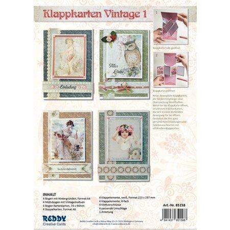 BASTELSETS / CRAFT KITS: Klappkartenset, Vintage I