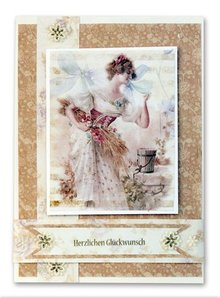 BASTELSETS / CRAFT KITS: Fancy Bordered Print Fancy, Vintage I