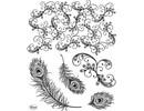 Viva Dekor und My paperworld sellos transparentes, plumas del pavo