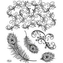 Gjennomsiktige stempler, påfuglfjær